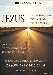 Zasów - Dekanalne Spotkanie Młodzieży - Droga światła